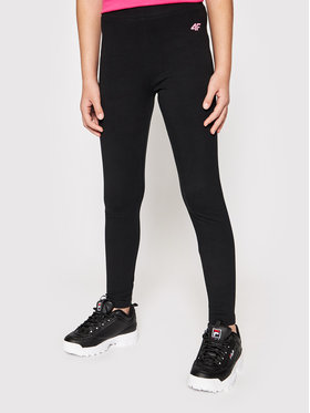 4F 4F Leggings JLEG001 Fekete Slim Fit
