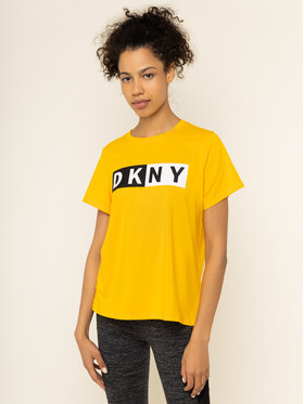 DKNY Sport DKNY Sport Marškinėliai DP9T5894 Geltona Regular Fit