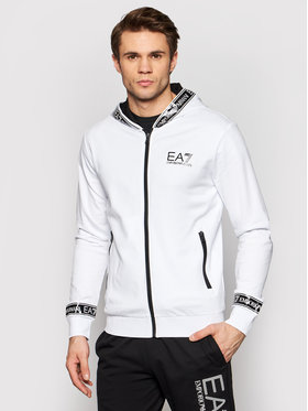 EA7 Emporio Armani EA7 Emporio Armani Суитшърт 3KPM25 PJ05Z 1100 Бял Regular Fit