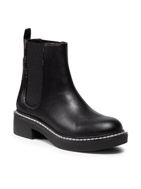 Guess Guess Členková obuv s elastickým prvkom FL8TFT LEA10 Čierna