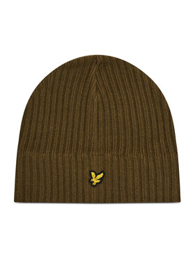 Lyle & Scott Lyle & Scott Шапка Knitted Ribbed Beanie HE502AC Зелен