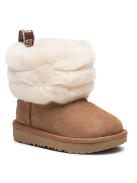 Ugg Ugg Buty T Fluff Mini Quilted 1103612T Brązowy