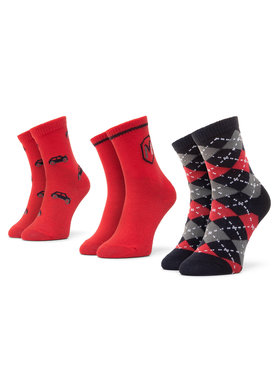 Mayoral Mayoral Lot de 3 paires de chaussettes hautes enfant 10831 Rouge