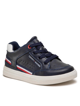 Tommy Hilfiger Tommy Hilfiger Sneakersy Mid Cut Lace-Up Sneaker T1B4-32043-0621 S Granatowy