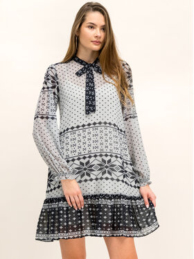 My Twin My Twin Sukienka codzienna 192MT2392 Szary Regular Fit