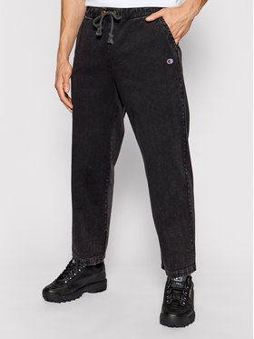 Champion Champion Текстилни панталони Track 214928 Черен Custom Fit