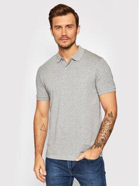 Selected Homme Selected Homme Тениска с яка и копчета Paris 16072841 Сив Regular Fit