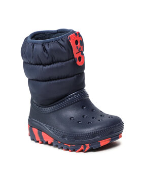 Crocs Crocs Śniegowce Classic Neo Puff Boot K 207275 Granatowy