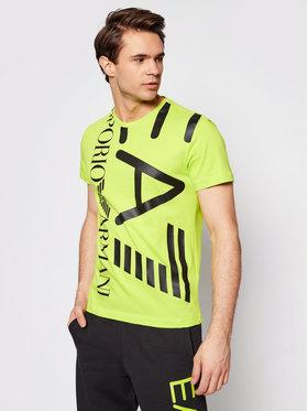 EA7 Emporio Armani EA7 Emporio Armani T-shirt 3KPT07 PJA2Z 1873 Verde Regular Fit