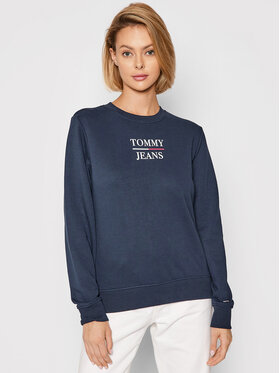Tommy Jeans Tommy Jeans Džemperis Terry lLogo DW0DW09663 Tamsiai mėlyna Regular Fit
