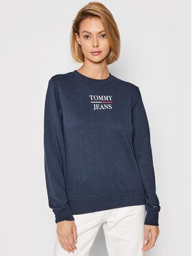 Tommy Jeans Tommy Jeans Pulóver Terry lLogo DW0DW09663 Sötétkék Regular Fit