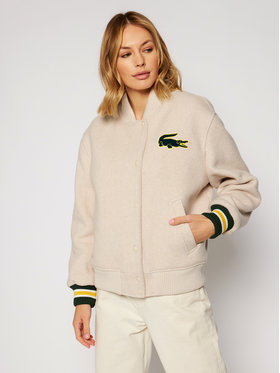 Lacoste Lacoste Kurtka bomber BF1265 Beżowy Regular Fit