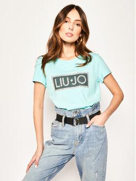 Liu Jo Sport Liu Jo Sport T-Shirt TA0185 J9944 Niebieski Regular Fit