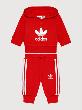 adidas adidas Анцуг adicolor Set H25219 Червен Regular Fit