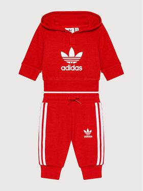 adidas adidas Φόρμα adicolor Set H25219 Κόκκινο Regular Fit