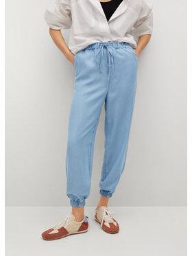 Mango Mango Pantaloni din material Nicky 87058638 Albastru Regular Fit