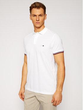 Tommy Hilfiger Tailored Tommy Hilfiger Tailored Тениска с яка и копчета MERCEDES-BENZ Mercedes TT0TT08678 Бял Slim Fit