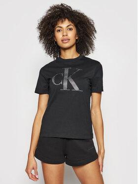 Calvin Klein Jeans Calvin Klein Jeans Marškinėliai J20J215605 Juoda Regular Fit