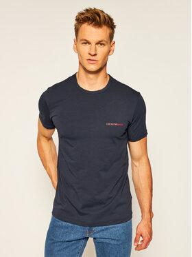 Emporio Armani Underwear Emporio Armani Underwear 2-dílná sada T-shirts 111267 0A717 70835 Tmavomodrá Regular Fit