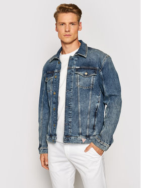 Guess Guess Jeansová bunda M1YN37 D47IF Modrá Regular Fit