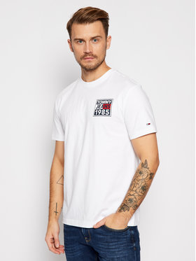 Tommy Jeans Tommy Jeans Tricou Front And Back Graphic DM0DM09485 Alb Regular Fit