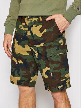 DC DC Pantaloncini di tessuto Warehouse Cargo ADYWS03056 Verde Relaxed Fit