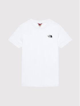 The North Face The North Face T-shirt Unisex Simple Dome NF0A2WANLA91 Blanc Regular Fit