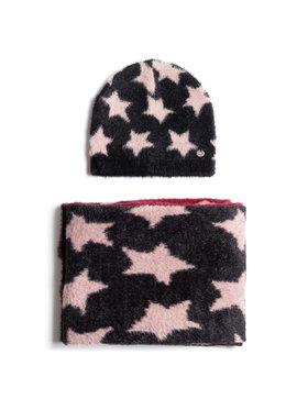 Liu Jo Liu Jo Комплект шал и шапка Coordinato Fantasia 2F0040 M0300 Черен