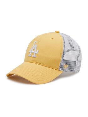 47 Brand 47 Brand Czapka z daszkiem Los Angeles Dodgers B-FLGSH12GWP-MZ Żółty