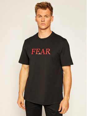 MSGM MSGM T-Shirt DAVID AUGUSTO 2940MM213 207598 Czarny Regular Fit