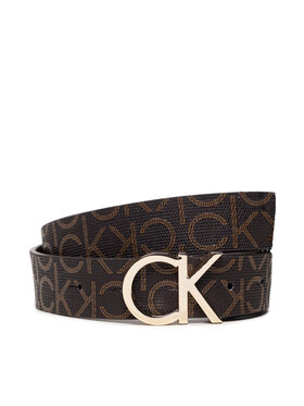 Calvin Klein Calvin Klein Pasek Damski Ck Mono Belt 3Cm K60K606446 Brązowy
