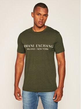 Armani Exchange Armani Exchange T-Shirt 8NZT72 Z8H4Z 1851 Zelená Slim Fit