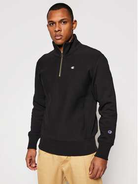 Champion Champion Bluză Half Zip-Up 214678 Negru Custom Fit