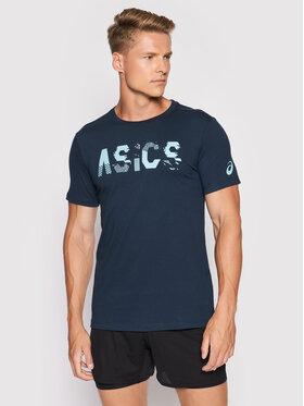 Asics Asics Marškinėliai Seasonal Logo 2031C157 Tamsiai mėlyna Regular Fit