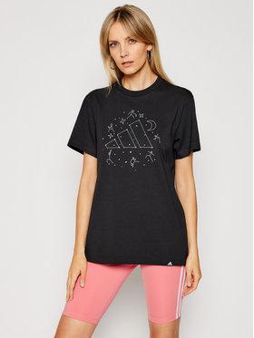 adidas adidas Marškinėliai Constellation GJ6519 Juoda Regular Fit