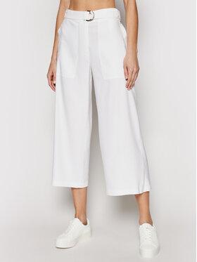 Calvin Klein Calvin Klein Culottes nohavice K20K202753 Biela Regular Fit
