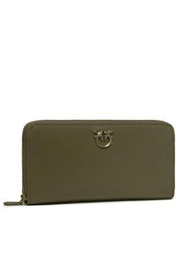 Pinko Pinko Veľká dámska peňaženka Ryder Wallet Zip Around L Simply AI 21-22 PLTT 1P22GW Y6XT Zelená