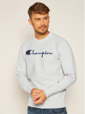 Champion Champion Sweatshirt Script Logo 215211 Grau Custom Fit