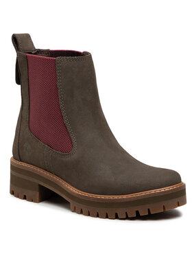 Timberland Timberland Kotníková obuv s elastickým prvkem Courmayeur Valley Chelsea TB0A2DSF901 Zelená