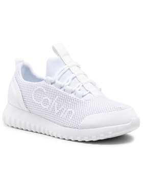 Calvin Klein Jeans Calvin Klein Jeans Sneakersy Runner Sneaker Laceup Mesh YW0YW00165 Biela