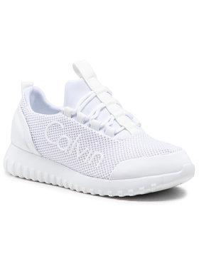 Calvin Klein Jeans Calvin Klein Jeans Sneakersy Runner Sneaker Laceup Mesh YW0YW00165 Bílá