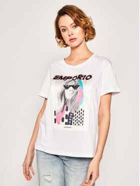 Emporio Armani Emporio Armani T-shirt 3H2T7M 2J53Z 0100 Blanc Regular Fit