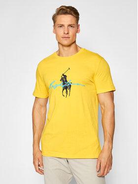 Polo Ralph Lauren Polo Ralph Lauren T-Shirt 710839050006 Żółty Custom Slim Fit