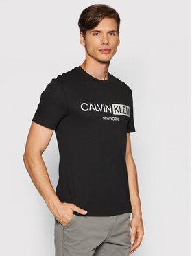 Calvin Klein Calvin Klein Тишърт Contrast Graphic Logo K10K107256 Черен Regular Fit