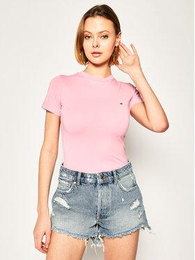 Tommy Jeans Tommy Jeans Tričko Strech Crew Tee DW0DW08254 Ružová Slim Fit
