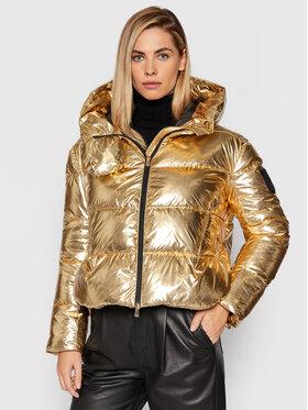 Pinko Pinko Pernata jakna Giza 1 1G16D6 Y76P Zlatna Regular Fit