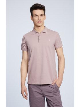 Vistula Vistula Тениска с яка и копчета Mike XA1276 Виолетов Regular Fit