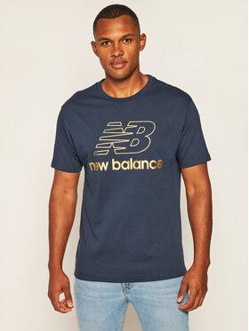 New Balance Tričko MT03503 Tmavomodrá Relaxed Fit