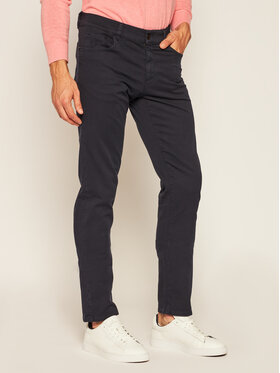 Trussardi Jeans Trussardi Jeans Kalhoty z materiálu 52J00007 Tmavomodrá Slim Fit