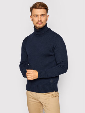 Trussardi Jeans Trussardi Jeans Sweater Turtle 52M00414 Sötétkék Regular Fit